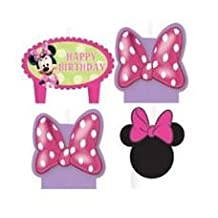 Minnie Mouse Birthday Candles - Set of 4