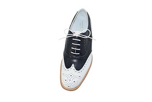 Courtley & Sons 28.24.22fr, Damen Brogue / Oxford Bianco / Blu