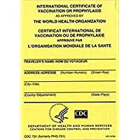 INTERNATIONAL CERTIFICATE OF VACCINATION - PACK of 2 includes 2 vinyl covers