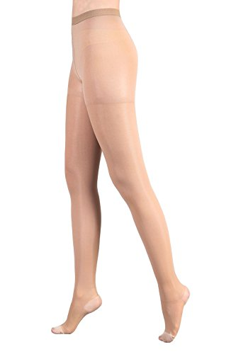 MD Sheers Therapy Closed Toe Pantyhose Medical Quality Ladies Support Stocking 20-30 mmHg NudeM