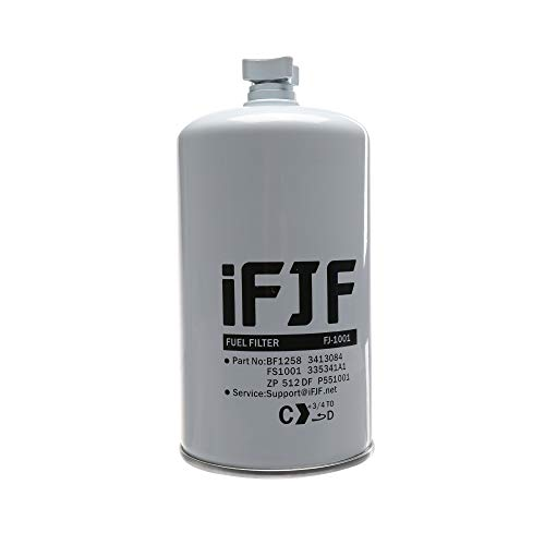 iFJF FS1001 Fuel Filter and Water Separator Combo for HD Titanium Platinum Series Systems Pump Replace Cummins 3413084