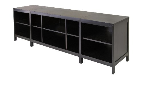 Winsome Wood Hailey Wood 3pc Media Center, Modular