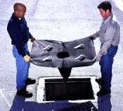 "UltraTech 48"" X 36"" X 18"" Ultra-Drain Guard Oil Hydrocarbons Sediment Black Polypropylene Drain Guard"