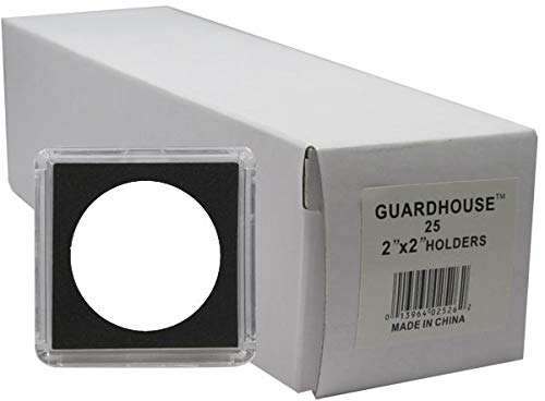 Guardhouse Tetra 2 x 2 Snaplocks for One Ounce American Gold and Platinum Eagles and Early US Half Dollars Pack of 25