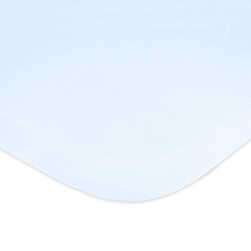 Carter's 100% Cotton Jersey Knit Fitted Bassinet Sheet, Cloud (Carters Knit Set)