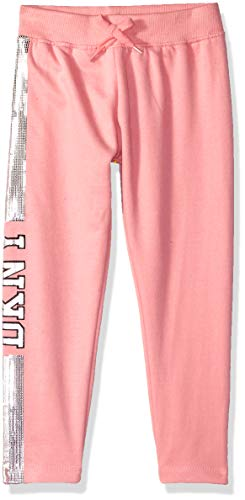 DKNY Girls' Little Glitter Jogger, Blush, 6 by DKNY