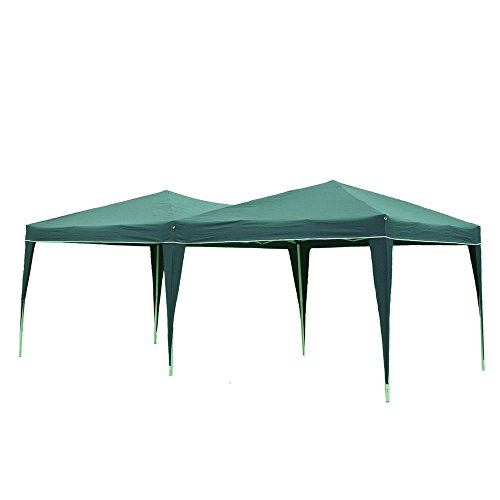 10'x20' Easy Pop Up Gazebo Folding Wedding Canopy Party Events Tent Carports with Carry Bag (Army Green) (Party Carport)