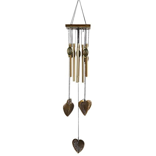 Patgoal Antique Copper 3 Bells Lucky Wind Chimes Outdoor Home Decoration (C)