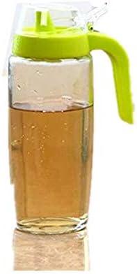 Soy sauce 36-blue Blue All For You Glass Oil Bottle Honey Dispenser with Heavy Duty Plastic Cap-BPA Free- 20.3 OZ// 600ml Vinegar