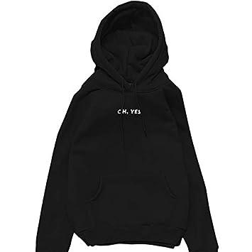 Alextry 2017 Moda otoño Invierno Pilas Claro Que Letra Harajuku Jersey para Estampado Mujeres Relajado Gruesa Sudadera con Capucha Verde Negro XL: ...