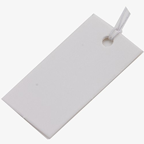 Mophorn 1pc White Strung Merchandise Price Tags Elastic String 40x20mm Tool
