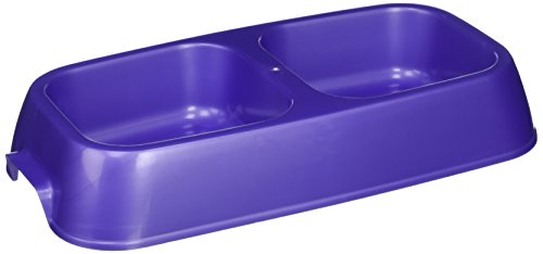 - westminster pet products 00442 Medium, Plastic, Raised Double Pet Bowl