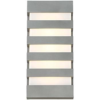 "WAC Lighting WS-W23614-GH Folsom LED Outdoor Wall Light, 14"", Graphite"