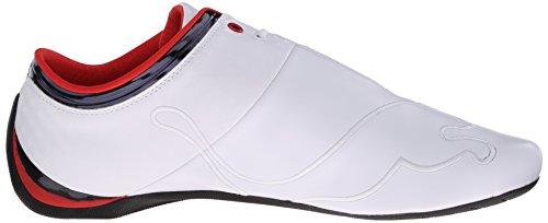 Puma Mens Bmw Future Cat M1 Driving Shoe Bianco / Rosso Ad Alto Rischio