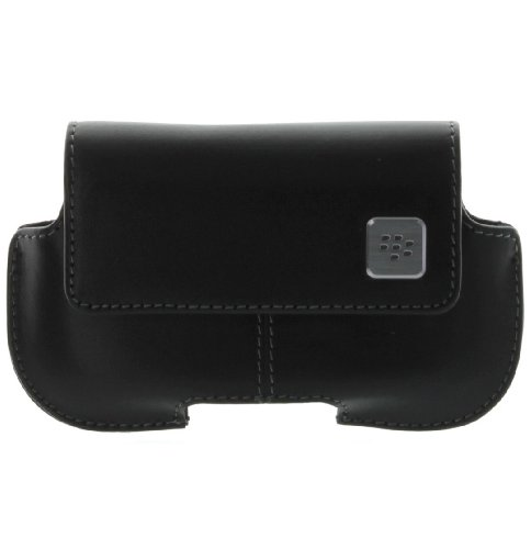 BlackBerry Leather Horizontal Holster BlackBerry 8900 - Black