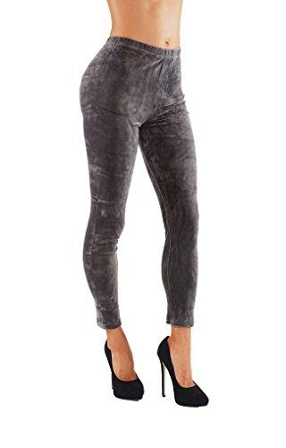 Velour Leggings Pants - 8