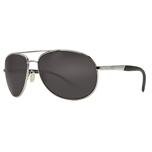 Costa Del Mar Wingman Sunglasses, Palladium Silver, Gray 580P Lens by Costa Del Mar