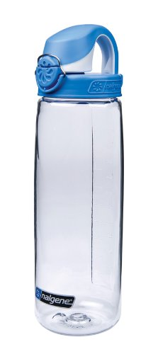 Nalgene On The Fly Water Bottle (Clear with Blue/White Cap),20-Ounce