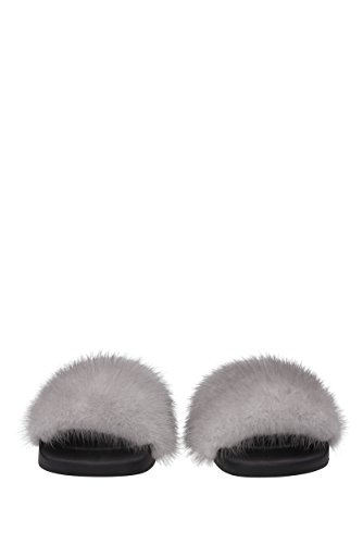 EU Pelliccia Givenchy Zoccoli Ciabatte e Grigio BE08209806 Donna wwIPYq