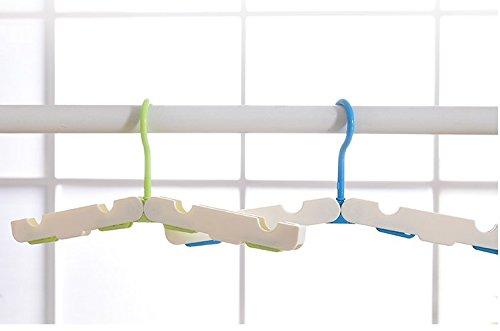 SZCHENGCI Portable Folding Hanger Clothes Shirts Sweaters Dr