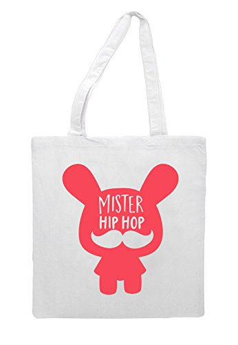 Mister Hip Shopper Statement Tote Hop Bag Outline White Cute Bunny Easter Hpprx7