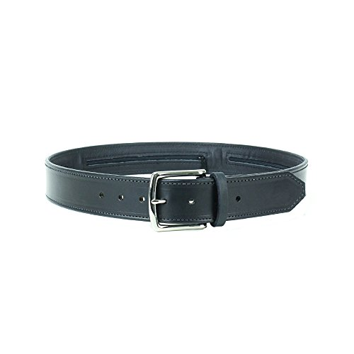 Gun Belt For Concealed Carry As Seen On TV's Shark Tank: Premium English Harness Leather, Unbreakable Solid Brass Buckle, 3 Hidden Pouches For Survival Gear, Unconditional Lifetime Guarantee