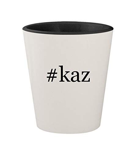 #kaz - Ceramic Hashtag White Outer & Black Inner 1.5oz Shot Glass