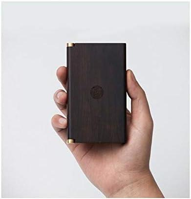 Boyuanweiye ソリッドウッドのタバコケース、ポータブル光20パープルサンダルウッド、アンチ圧力防湿タバコストレージボックス、メンズビジネスギフト、長老リーダーシップクリエイティブギフトを送ります,品質の選択,落下防止 (Color : Brown, Size : 11.2*6.8*1.8cm)