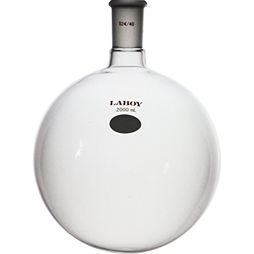 Laboy HMF010336 Glass Single Neck Round Bottom Boiling Flask 2000 mL with 24/40 Joint ()
