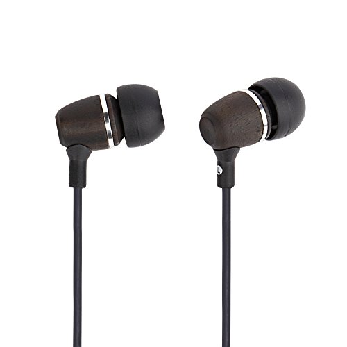 Francois et Mimi Elite Genuine Wood in-Ear Noise-isolating Headphones with Mic, Retail Packaging!
