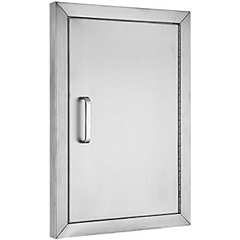 BestEquip BBQ Island 304 Stainless Door Single Access BBQ Door 14x20inch Single Door Flush Mount (