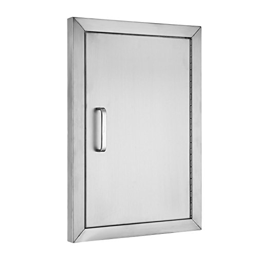 Stainless Drawers - BestEquip BBQ Island 304 Stainless Door Single Access BBQ Door 14x20inch Single Door Flush Mount (14W x 20H)