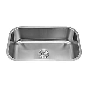 Silver LINE UNDERMOUNT Single Bowl Stainless Steel Grade 304 Kitchen Sink 30″x18″x9″