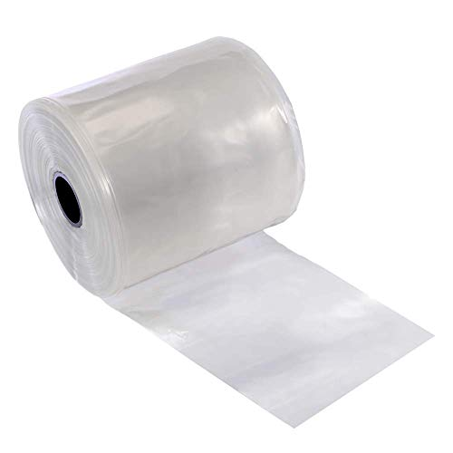 Resilia Lay Flat Poly Tubing-Custom Poly Bag Packaging Solution - 5 Inches x 1,500 Feet, 4 Mil Thickness on a 3