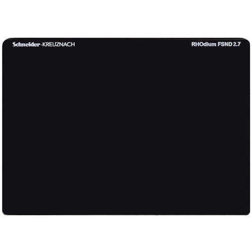 """Schneider 4x5.65"""" RHOdium Full Spectrum Neutral Density FSND 2.7 Filter, 9 Stop"""