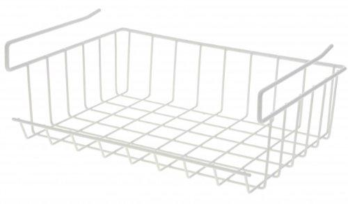 Schrankkorb zum Einhängen - Metall - weiß - Regalkorb ...
