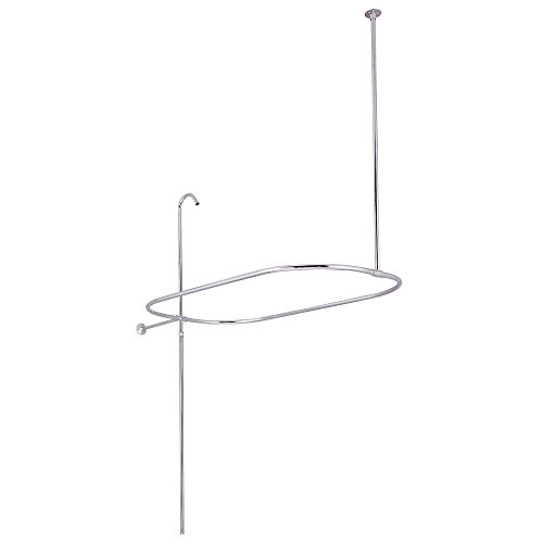 Kingston Brass CC10401 Vintage Oval Shower Riser with Enclosure, 61-Inch, Polished - Enclosure Shower Oval