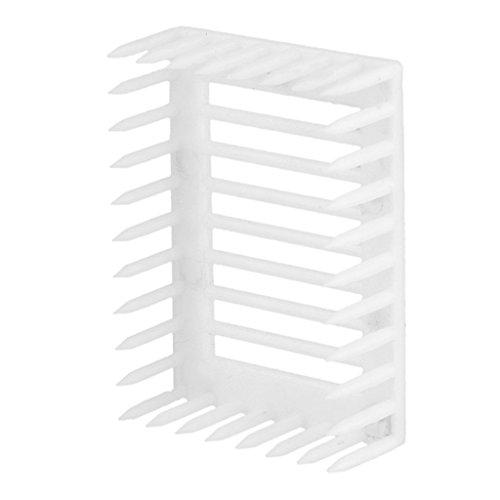 6pcs-Cage-de-Reine-des-Abeilles-Style-Aiguille-Plastique-Outil-Apiculture-Blanc