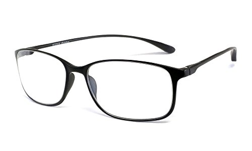Calabria Reading Glasses - 720 Flexie in Ebony +3.25