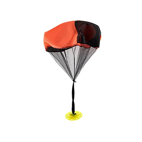 Livoty Kids Flash Parachute Mini Throwing Toy Sport Outdoor Play Games Funny Children's Toys (Orange)