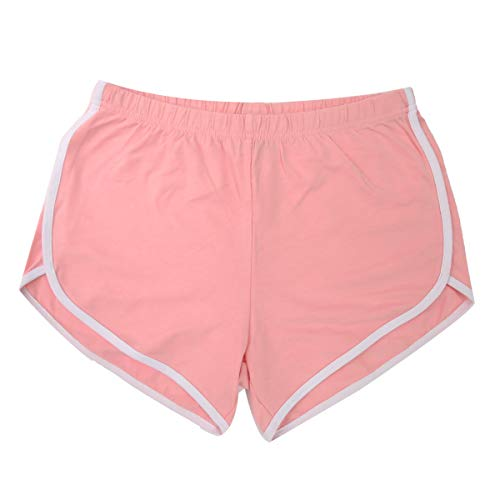 Bae US Women's Dolphin Running Shorts-Size S to L, 11 Colors, D Pink, S