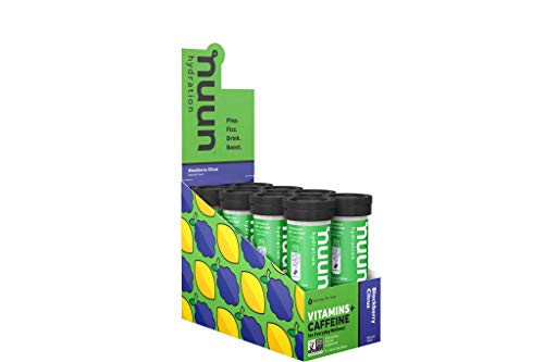 Nuun Hydration: Vitamin + Electrolyte + Caffeine Drink Tablets, Blackberry Citrus, Box of 8 Tubes (96 servings), Enhanced Formula with a Kick