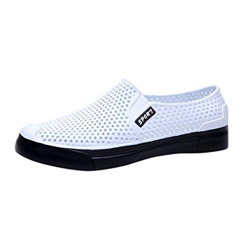 Shusuen Unisex Slip On Sneaker Shoe Breathable Flip Flops Loafers -