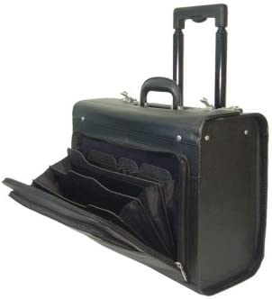 AmeriLeather Leather Rolling Laptop-Friendly Catalog Case