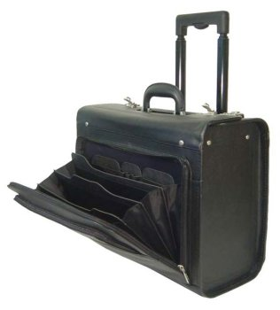 (Leather Rolling Computer-friendly Catalog Case (#1854-0))