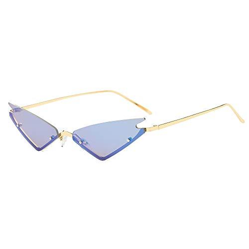 (FAGUMA Small Cat Eye Sunglasses For Women Fashion Semi Rimless Sunglasses)