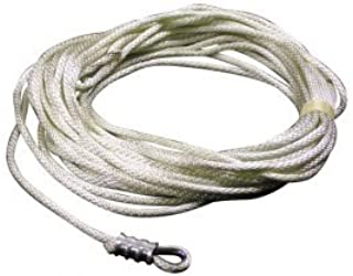 product image for EDER Flag Mfg Nylon Rope with Wire Center Assembly- 50' Length of Rope, White