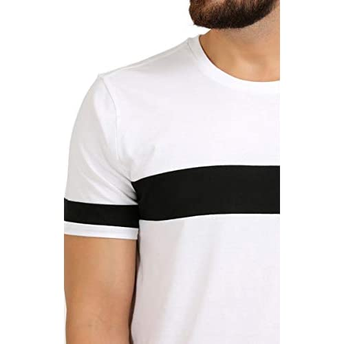 3180QncBnoL. SS500  - AELOMART Men's Cotton T Shirt-(Amt1072-P_White)