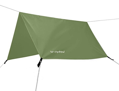 10 x 10 FT Lightweight Waterproof RipStop Rain Fly Hammock Tarp Cover Tent Shelter for Camping Outdoor Travel
