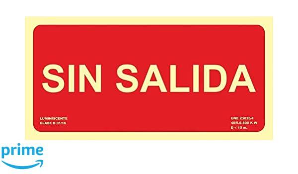MovilCom® - Señal luminiscente SIN SALIDA PVC 0,7mm Clase B ...